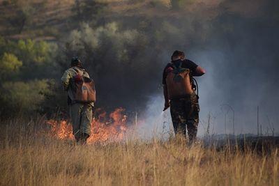 В Новоодесском районе горел заповедник (Фото)