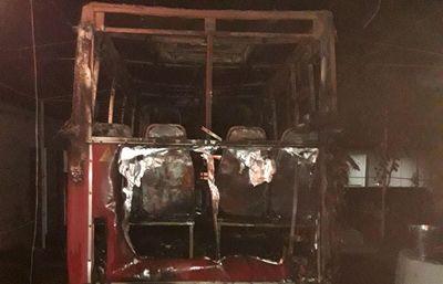 В Новой Одессе сгорел микроавтобус (Фото)
