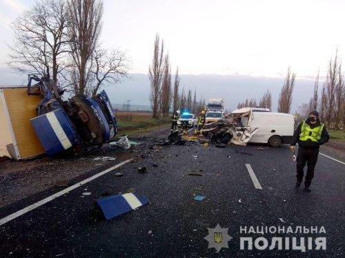 Полиция устанавливает обстоятельства жуткого ДТП возле Николаева (Фото, Видео)